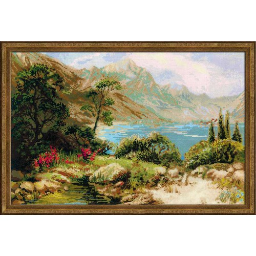 """Набор для вышивания крестом Риолис """"Горное озеро"""""""