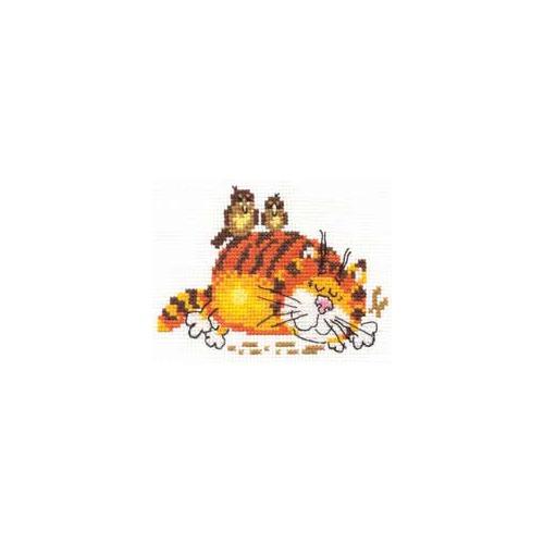 """Набор для вышивания крестом Алиса """"Ленивый кот"""""""