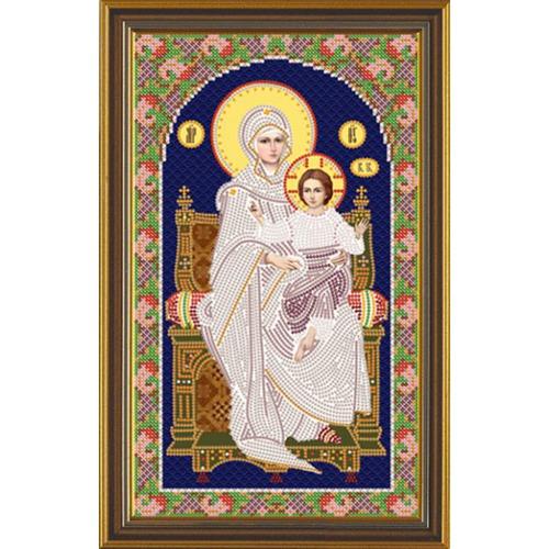 """Набор для вышивания бисером Nova sloboda """"Божия Матерь на Престоле"""""""