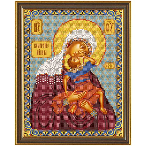 """Набор для вышивания бисером Nova sloboda """"Божия Матерь Взыграние Младенца"""""""