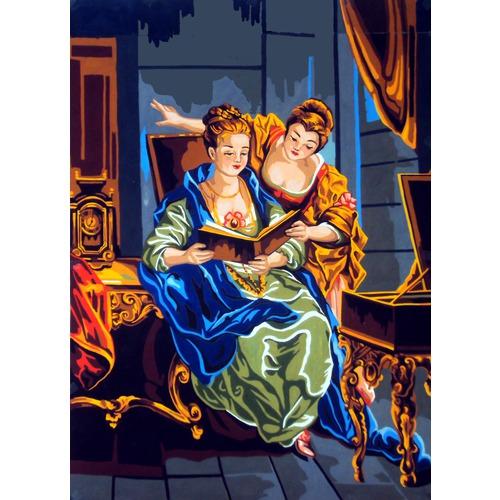 """Канва/ткань с нанесенным рисунком Diamant """"Читающие дамы"""""""
