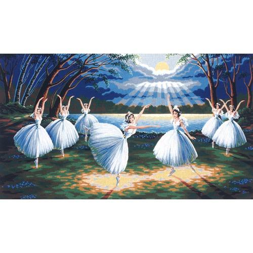 """Канва/ткань с нанесенным рисунком Diamant """"Лебединое озеро"""""""