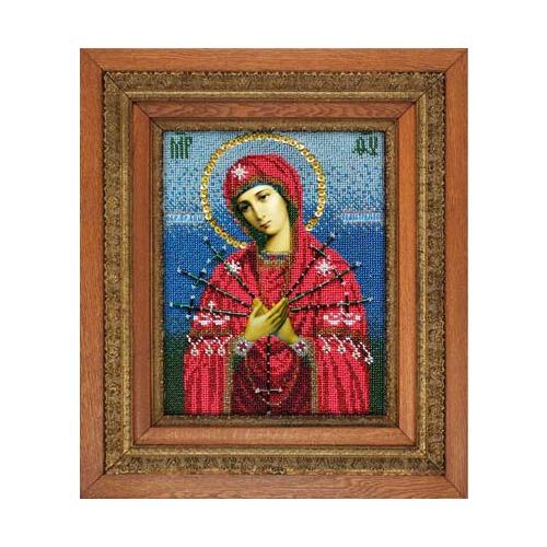 """Набор для вышивания бисером Вышиваем бисером """"Семистрельная икона Божией Матери"""""""