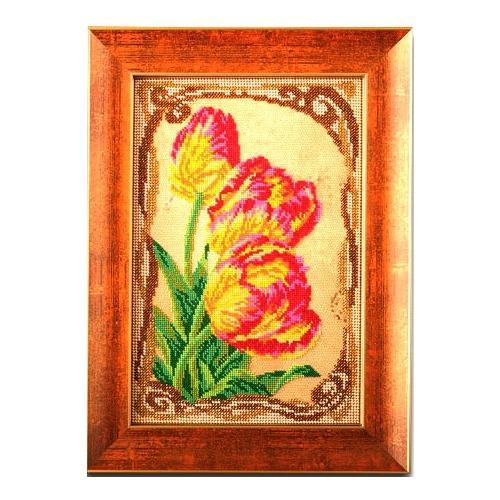 """Набор для вышивания бисером Радуга бисера (Кроше) """"Бархатные тюльпаны"""""""