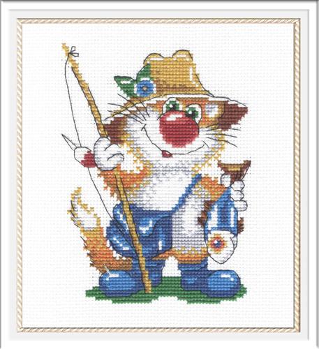 """Набор для вышивания крестом М.П. Студия """"Кот - рыбак"""""""