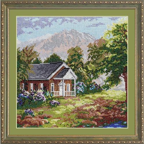 """Набор для вышивания крестом М.П. Студия """"Домик в горах"""""""