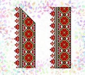 "Флизелин клеевой confetti ""Гуцульский орнамент"""