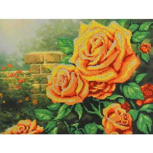 """Набор для вышивания бисером М.П. Студия """"Желтые розы"""""""