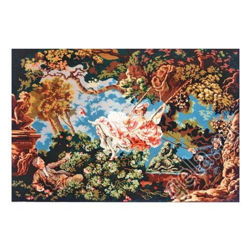 """Канва/ткань с нанесенным рисунком Gobelin-L """"Веселые качели"""""""