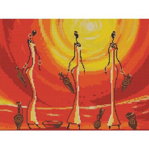 """Канва/ткань с нанесенным рисунком Конёк """"Африканки"""""""