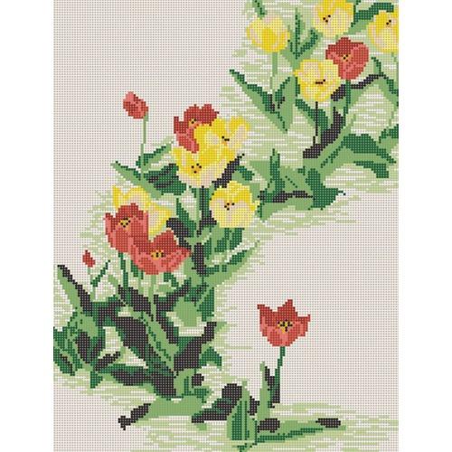 "Канва/ткань с нанесенным рисунком Конёк ""Тюльпаны"""
