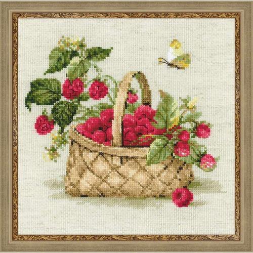 """Набор для вышивания крестом Риолис """"Малина в лукошке"""""""