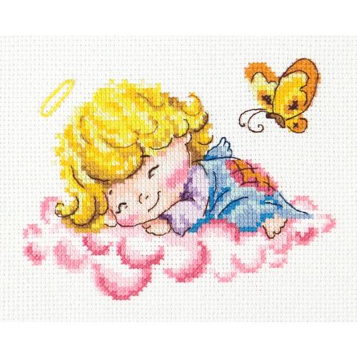 """Набор для вышивания крестом Чудесная игла """"Милый ангелочек"""""""