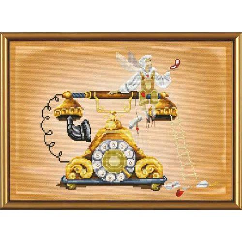 """Набор для вышивания крестом Nova sloboda """"Телефонный эльф"""""""