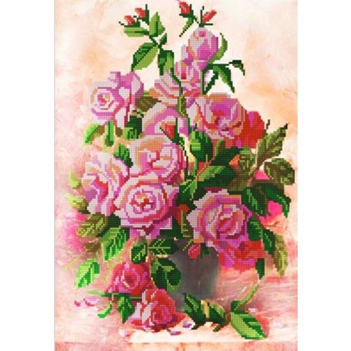 """Канва/ткань с нанесенным рисунком Конёк """"Розы в вазе"""""""