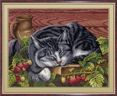 """Набор для вышивания крестом М.П. Студия """"Спящий кот"""""""