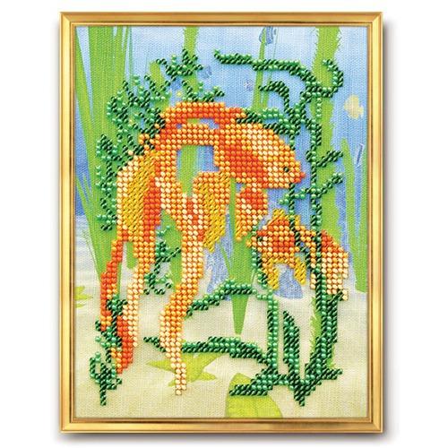 """Набор для вышивания бисером Радуга бисера (Кроше) """"Золотая рыбка"""""""