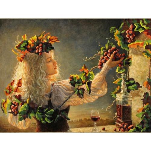"""Канва/ткань с нанесенным рисунком Конёк """"Солнце в бокале"""""""