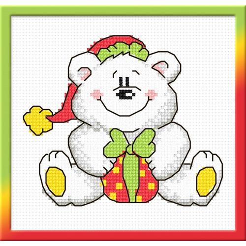 """Набор для вышивания крестом Овен """"Новогодний мишка"""""""