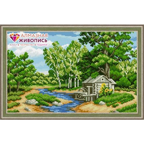 """Набор для выкладывания мозаики Алмазная живопись """"Лесная река"""""""