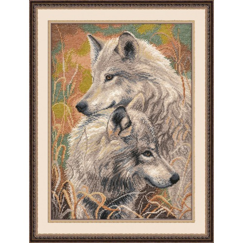 """Набор для вышивания крестом Овен """"Волчья верность"""""""