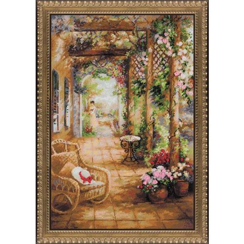 """Набор для вышивания крестом Риолис """"Свидание в саду"""""""