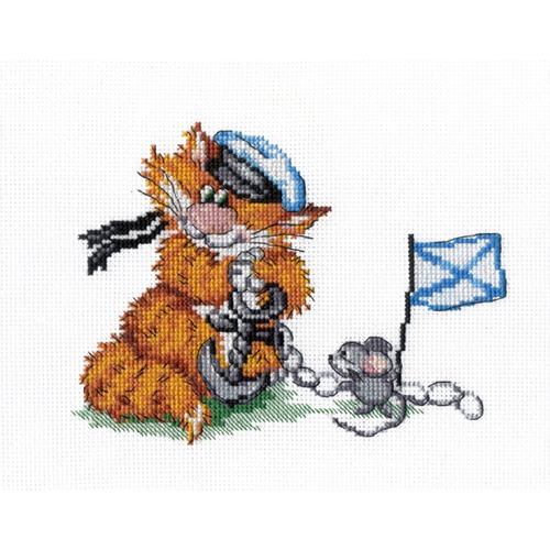 """Набор для вышивания крестом М.П. Студия """"Рыжий кот. Морской волк"""""""