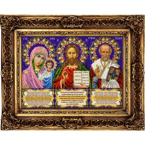 """Набор для вышивания бисером Вышиваем бисером """"Иконостас с молитвами"""""""