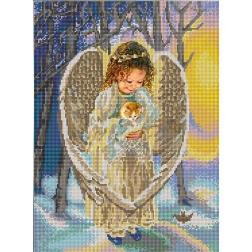 "Канва/ткань с нанесенным рисунком Конёк ""Ангел"""