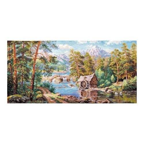 """Набор для вышивания крестом Алиса """"Пейзаж с мельницей"""""""