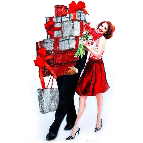 """Набор для вышивания хрустальными бусинами Образа в каменьях """"Женское счастье"""""""