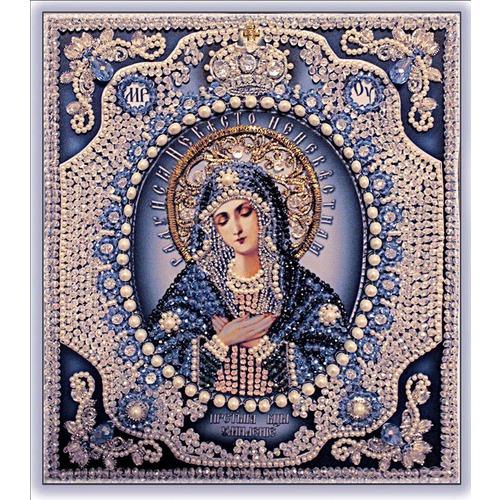 """Набор для вышивания хрустальными бусинами Образа в каменьях """"Богородица Умиление"""""""