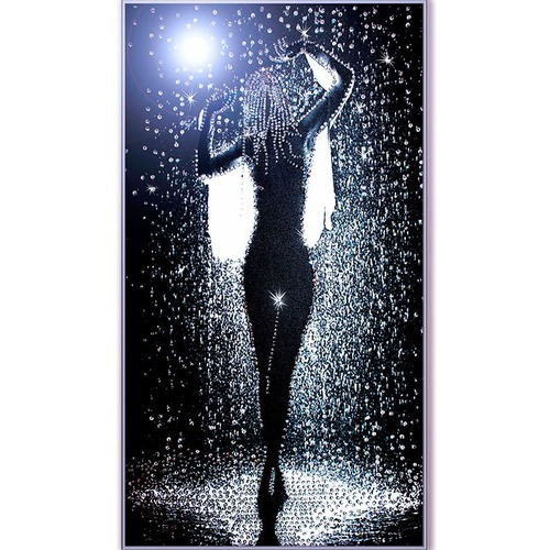 """Набор для вышивания хрустальными бусинами Образа в каменьях """"Дождь"""""""
