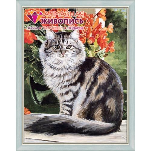 """Набор для выкладывания мозаики Алмазная живопись """"Кот в саду"""""""