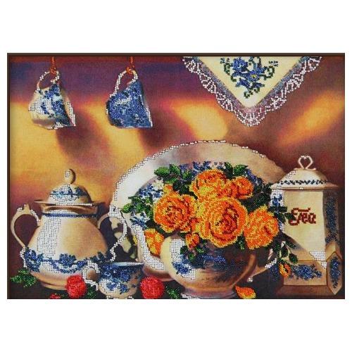 """Набор для вышивания бисером Глурия (Астрея) """"Чайный сервиз 4"""""""