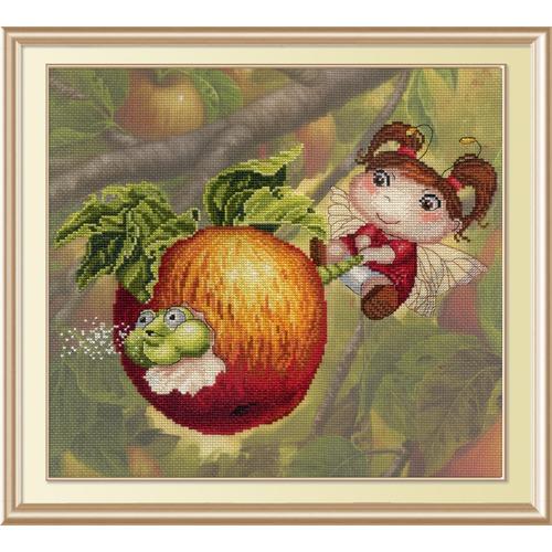 """Набор для вышивания крестом М.П. Студия """"Яблочная феечка"""""""