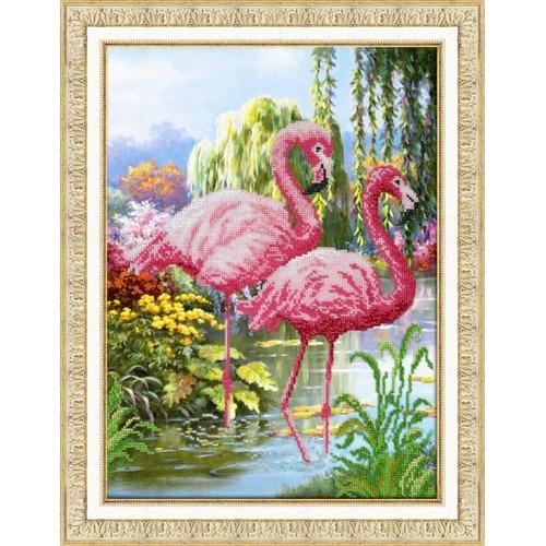 """Набор для вышивания бисером Паутинка """"Фламинго"""""""