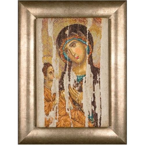"""Набор для вышивания крестом Thea Gouverneur """"Икона Божия Матерь (Хиландарская Акафистная - Богородица Одигитрия)"""""""