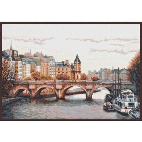"""Набор для вышивания крестом Палитра """"Мост через Сену"""""""
