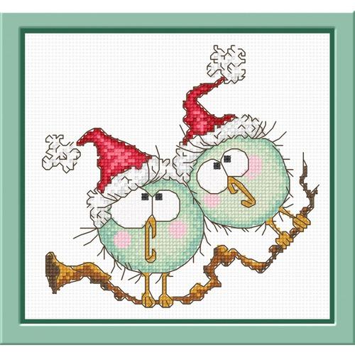"""Набор для вышивания крестом Овен """"Новогодний дуэт"""""""