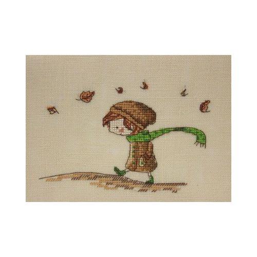 """Набор для вышивания крестом NeoCraft """"Осенняя прогулка"""""""