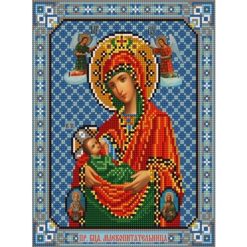 """Канва/ткань с нанесенным рисунком Конёк """"Богородица Млекопитательница"""""""