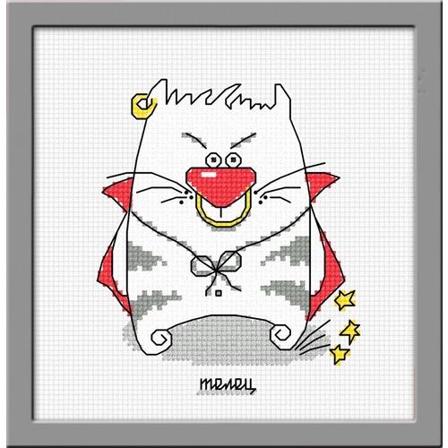 """Набор для вышивания крестом Овен """"Кошачий гороскоп. Телец"""""""