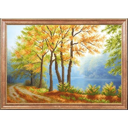 "Канва/ткань с нанесенным рисунком Магия канвы ""Осенний туман"""