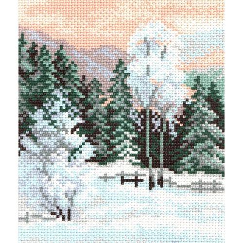 "Канва/ткань с нанесенным рисунком Матрёнин посад ""Зимний пейзаж"""