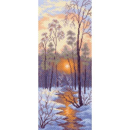 "Канва/ткань с нанесенным рисунком Матрёнин посад ""Зимний закат"""