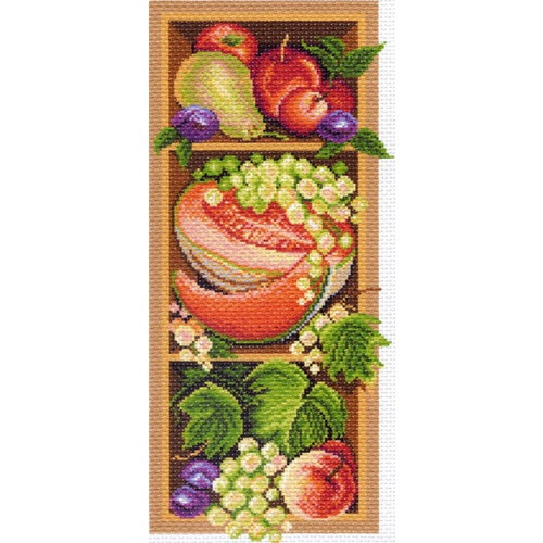 """Канва/ткань с нанесенным рисунком Матрёнин посад """"Полка с овощами"""""""