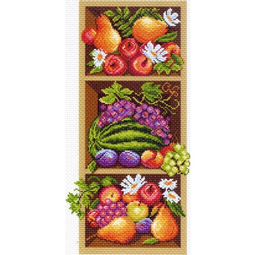 """Канва/ткань с нанесенным рисунком Матрёнин посад """"Полка с фруктами"""""""
