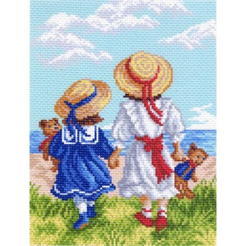 """Канва/ткань с нанесенным рисунком Матрёнин посад """"Две подружки"""""""