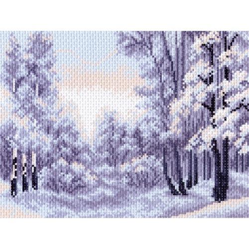 "Канва/ткань с нанесенным рисунком Матрёнин посад ""Зимний лес"""